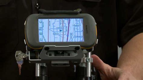 Garmin Montana GPS Locking Motorcycle Mount   YouTube