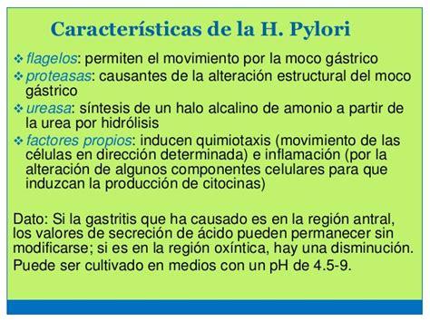 Gastritis por h pylori up med