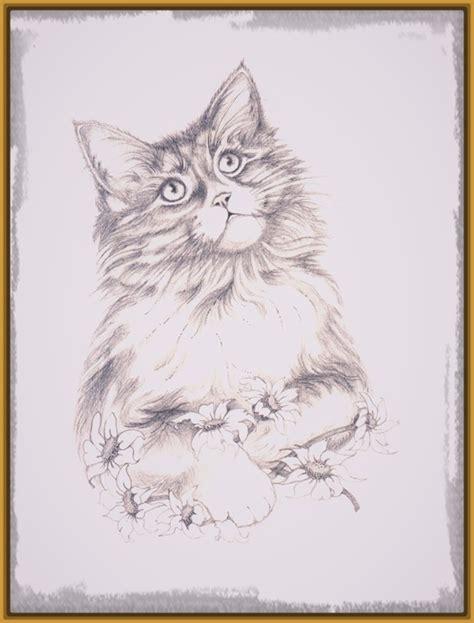 Gatos Tiernos Dibujos A Lapiz