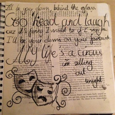 GCSE Art and Design   Fragments — Using Song Lyrics in my ...