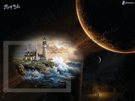 Gemalter Leuchtturm