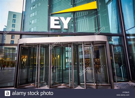 General view of the EY  Ernst & Young  office in London ...