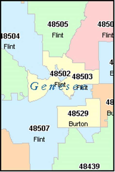 GENESEE County, Michigan Digital ZIP Code Map