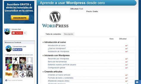 Genial vídeo tutorial gratuito de WordPress desde cero