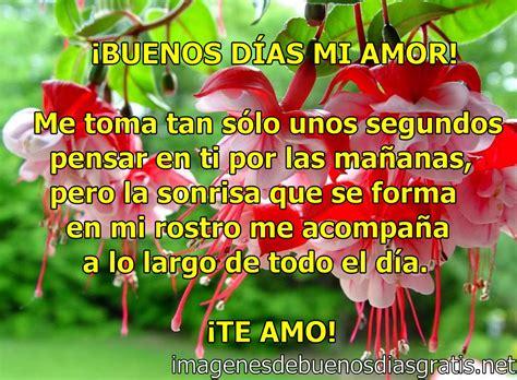 Geniales buenos dias mi amor frases | Imagenes De Buenos ...