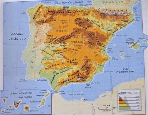 Geografía e Historia  ESO y Bachillerato : Mapa físico de ...