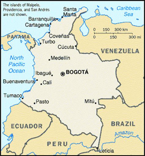 Geographical information about Colombia South America