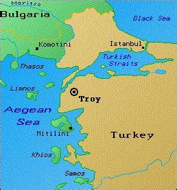 geography archaeology of troy