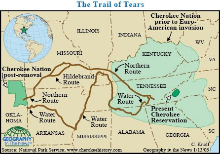 Geography in the News: The Long Trail of Tears – National ...