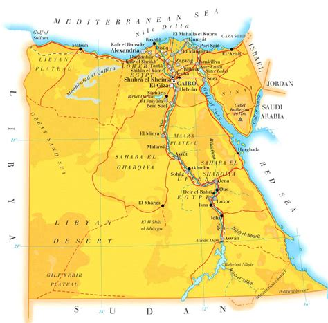 Geography Of Egypt Map