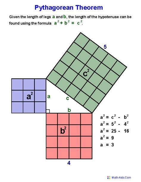 Geometry Worksheets | Index of Pythagorean Theorem Worksheets