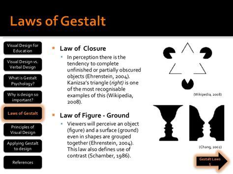 Gestalt Laws and Design