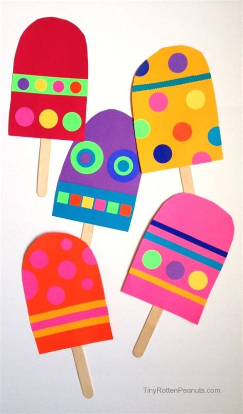 Giant Paper Popsicle Craft | Craft, Summer and Summer crafts