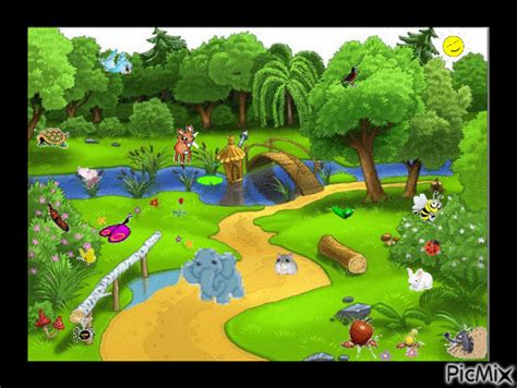 Gif animado bosque - Imagui