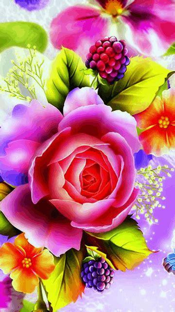 GIF: Flores y mariposas (Gif #4503)