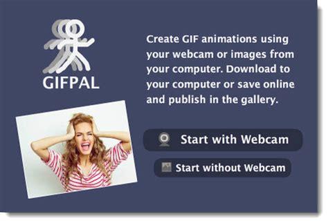 GIFPAL, crear gifs desde la webcam con efectos y texto