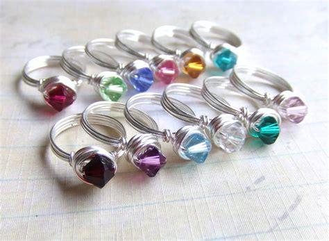 Girl's Birthstone Ring Swarovski Crystal by ...