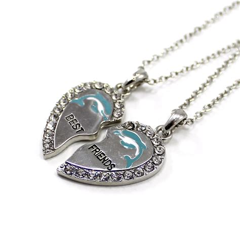 Girls BFF Necklace Donut Charm Pendant Set of Two Kids ...