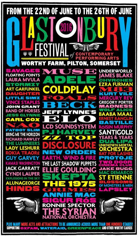 Glastonbury 2016 line up so far… | Glastonbury Festival