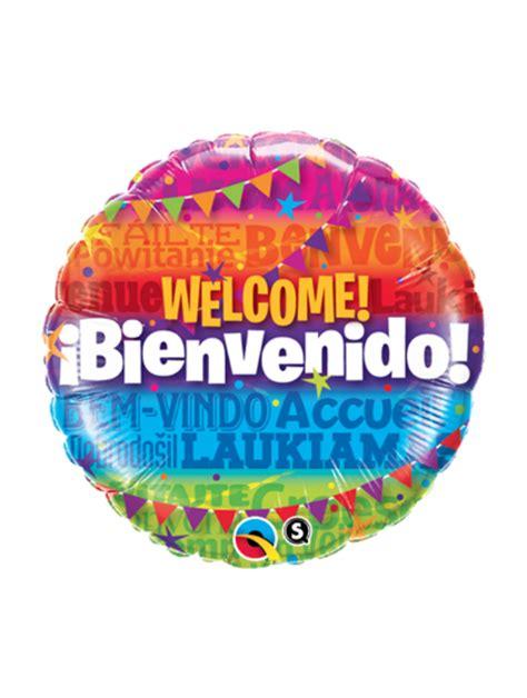 Globo con Helio Bienvenidos   Choco Express Disfraces ...