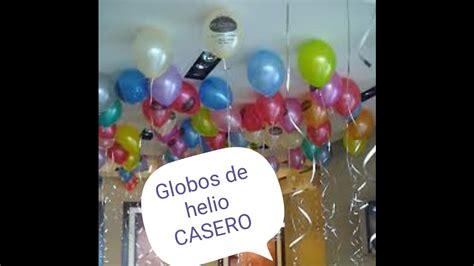 Globo de helio casero 100% efectivo  fácil 2018    YouTube