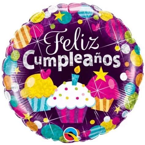Globo Feliz Cumpleaños Metálico Foil 40cm Mylar C/helio ...