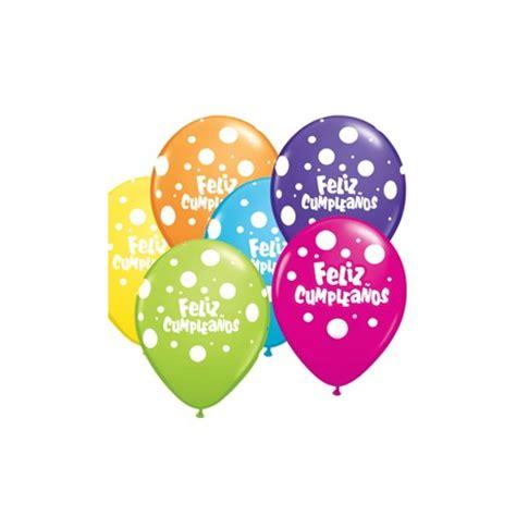 Globos de Feliz cumpleaños con lunares 11