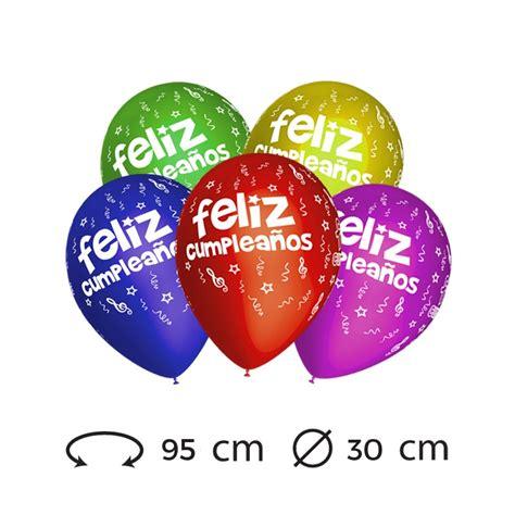 Globos Feliz Cumpleaños M02 Redondos 30 cm