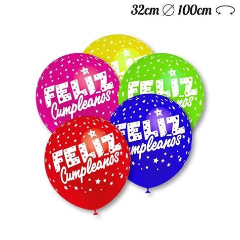 Globos Feliz Cumpleaños Redondos 32 cm