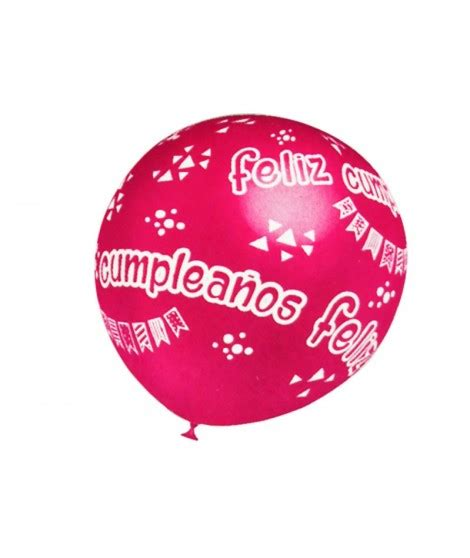 Globos Feliz Cumpleaños surtidos  5 uds  Tamaño Grande