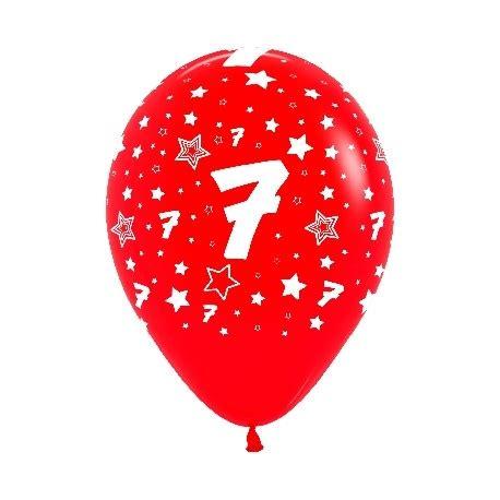 globos número 7 12