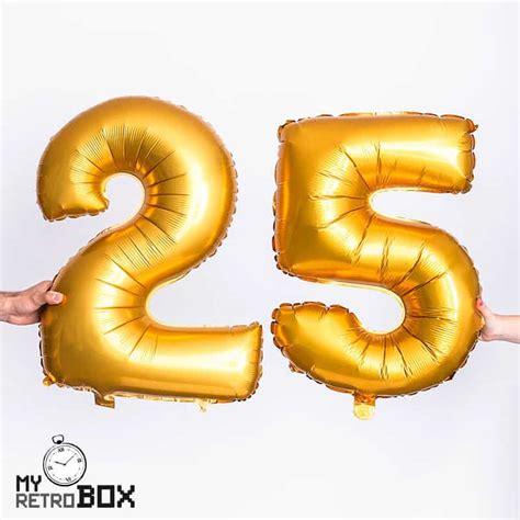 Globos números hinchables en color dorado grandes y medianos