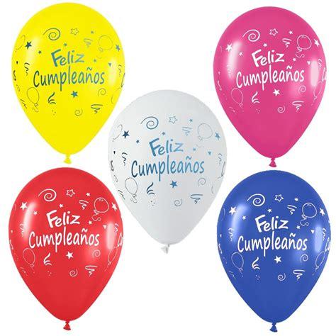 Globos Para Decorar Fiestas De Feliz Cumpleaños 6 Unidades ...
