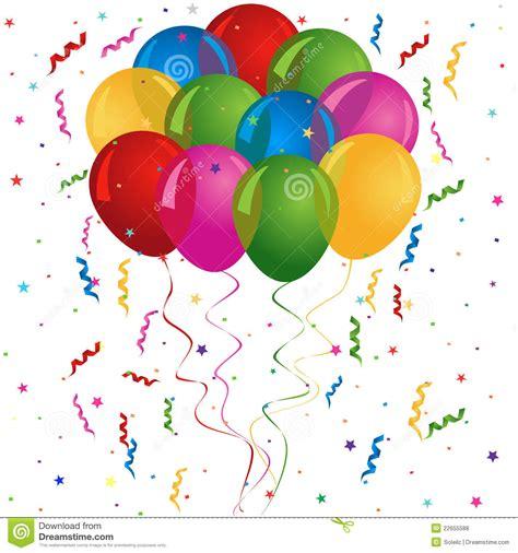 Globos Para El Cumpleaños O El Partido Ilustración del ...