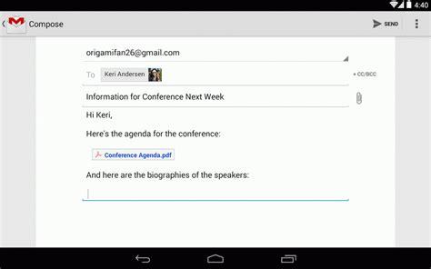 Gmail 4.9 ahora permite adjuntar archivos directamente ...