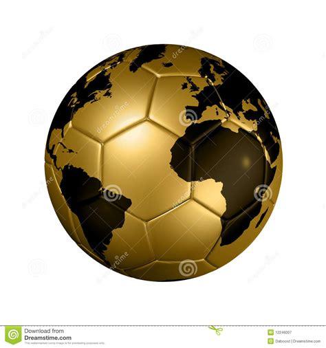 Gold Soccer Football Ball World Globe Royalty Free Stock ...