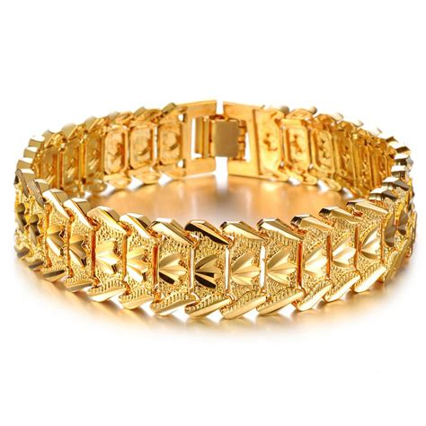 Golden Bracelets For Men Hd Opk Jewelry Hot Sale Luxury K ...