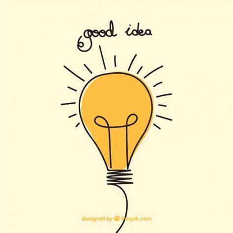 Good Idea Hand Drawn Illustration Vector | Free Download