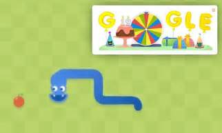 Google celebrates 19th birthday with the Doodle snake game ...