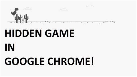 Google Chrome Dinosaur Game - YouTube
