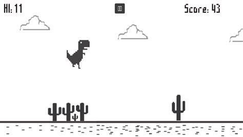 Google Chrome's Dinosaur Game when the Internet is down ...