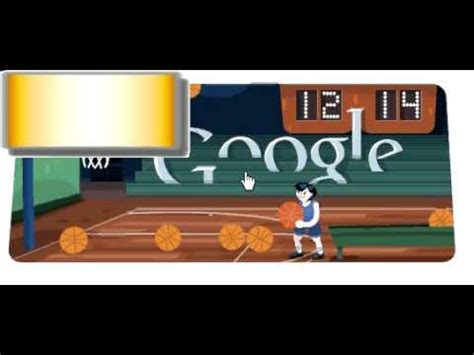Google Doodle Olympic games Basketball 2012 3 stars 36 ...