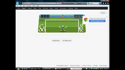 Google Doodle Soccer 2012 Gameplay Record!   YouTube