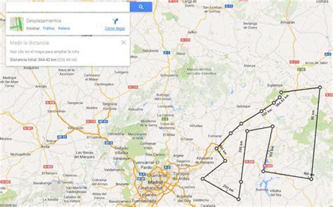 Google Maps muestra la distancia entre dos o más puntos ...