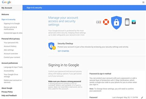 Google s  My Account  Now Offers Enhanced Management ...