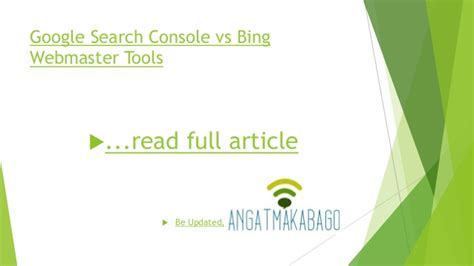 Google search console vs Bing webmaster tools