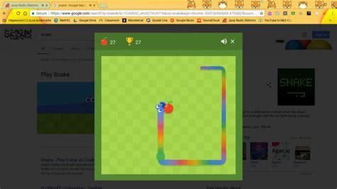 Google Snake Game - YouTube
