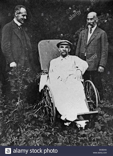 GORKY, USSR. Vladimir Lenin sits in a wheelchair in Gorki ...