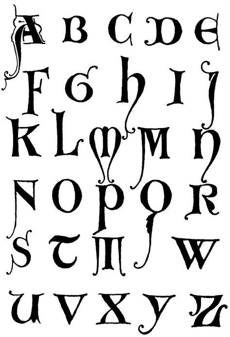 Gothic Letters A Z :: Unical Gothic Initials 2 ...