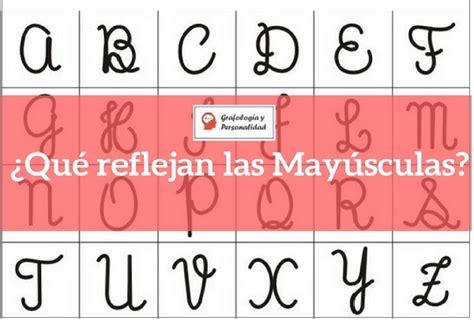 Grafología Letras Mayúsculas. Dime Cómo Escribes
